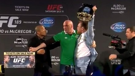 Conor McGregor Snags Jose Aldo's Belt