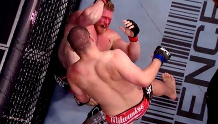 Cain Velasquez finishes Brock Lesnar