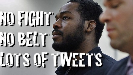 Jon Jones No Fight No Belt Tweets