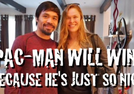 Manny Pacquiao and Ronda Rousey So Nice