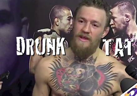 CONOR MCGREGOR DRUNK TATS