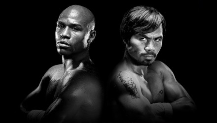 Mayweather vs Pacquiao B&W 750