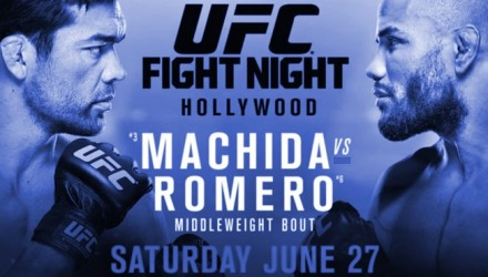 UFN70 Machida vs Romero Poster blue