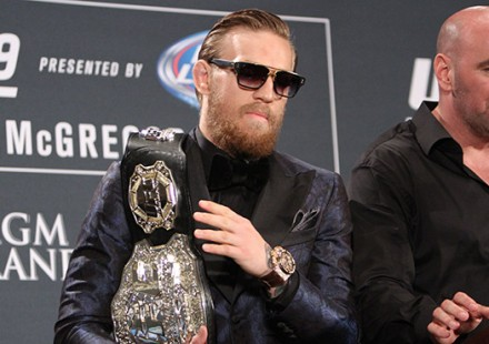 Conor McGregor and Dana White UFC 189