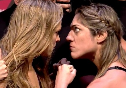 Ronda Rousey vs Bethe Correia UFC190 weigh