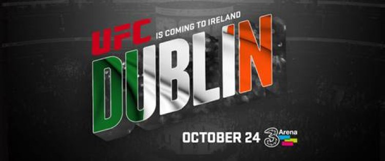 UFC is coming to Dublin Oct 24