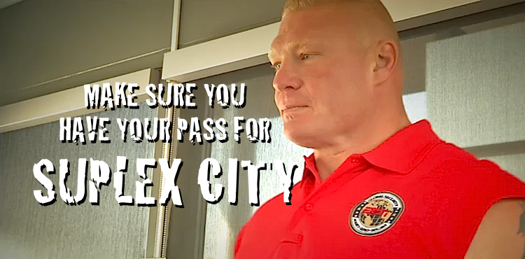 BROCK LESNAR ESPN SECURITY