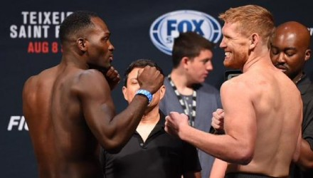 Derek Brunson vs Sam Alvey weigh