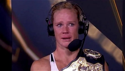 Holly Holm emotional on FS1