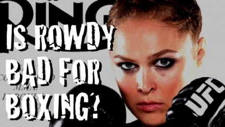 Is Rowdy Rousey bad for boxing