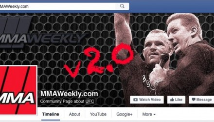 MMAWeekly Facebook Page v2 screenshot