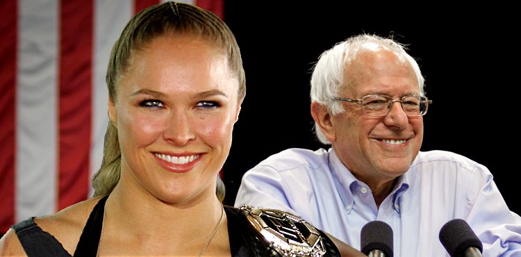 Ronda Rousey and Bernie Sanders