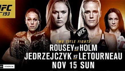 UFC 193 Fight Poster