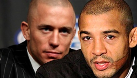 Jose Aldo and Georges St-Pierre