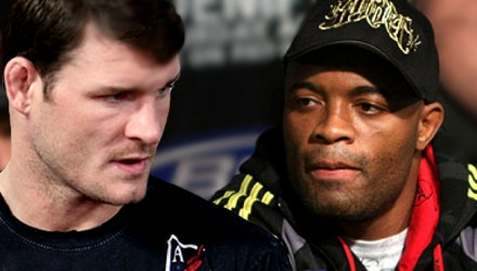 Michael Bisping and Anderson Silva Serious