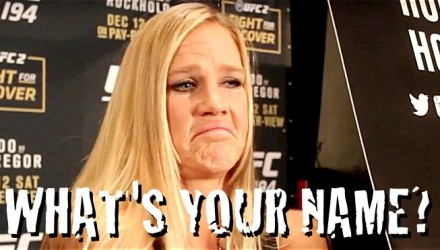 Holly Holm's Beyonce Blunder