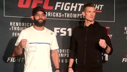 Johny Hendricks vs Stephen Thompson Media Day Face Off