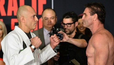 Royce Gracie vs Ken Shamrock Bellator weigh-in