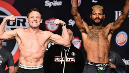 Joe Warren vs Darion Caldwell weigh-ins