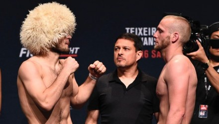 Nurmagomedov vs Horcher weigh-in
