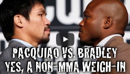 Manny Pacquiao vs Tim Bradley weigh-in