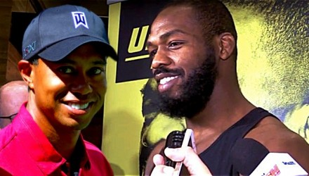 Tiger Woods and Jon Jones - UFC 197
