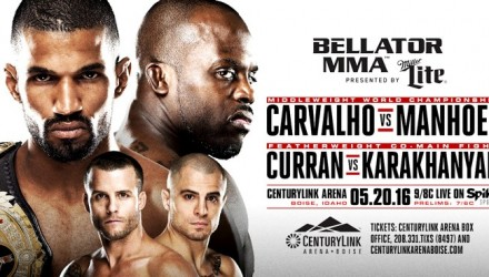 Bellator 155 Carvalho vs Manhoef fight poster