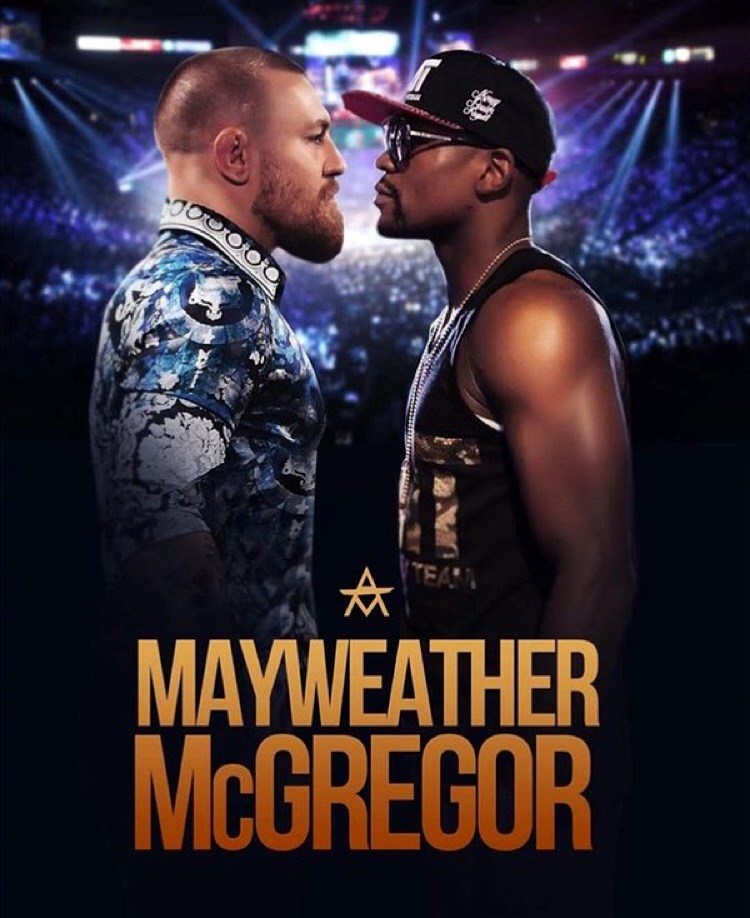 Floyd Mayweather vs Conor McGregor Fight Poster CM Mock