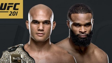UFC 201 Lawler vs Woodley Fight Poster