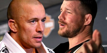Georges St-Pierre and Michael Bisping