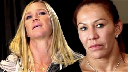 Holly Holm and Cris Cyborg