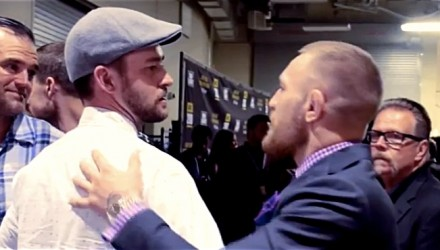 Justin Timberlake and Conor McGregor at UFC 200