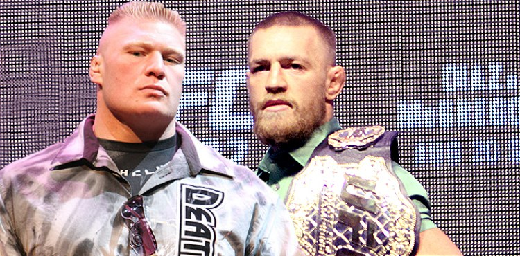 Brock Lesnar and Conor McGregor