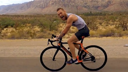 Conor McGregor cycling for UFC 202