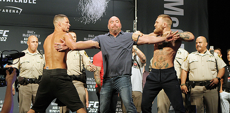 Nate Diaz and Conor McGregor - UFC 202 Weigh-in