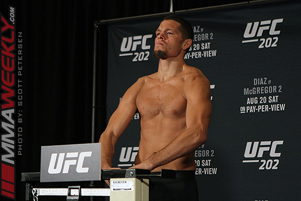 Nate Diaz UFC 202 weigh-in
