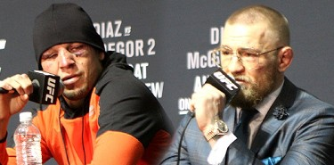 Nate Diaz and Conor McGregor UFC 202 Post-Fight