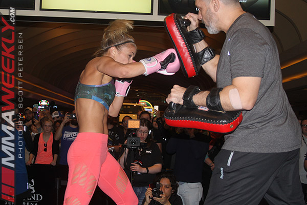Paige VanZant open workout