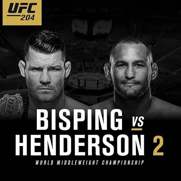 UFC 204 poster Bisping vs Henderson 2