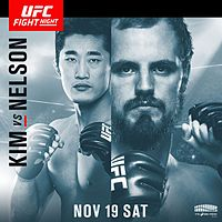 UFC Fight Night 99 Kim Nelson poster