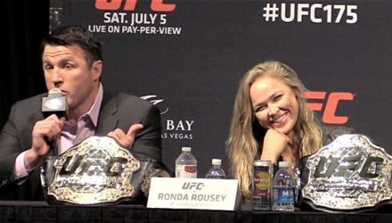 Chael Sonnen and Ronda Rousey - UFC 175 presser