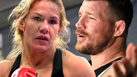 Cris Cyborg and Michael Bisping