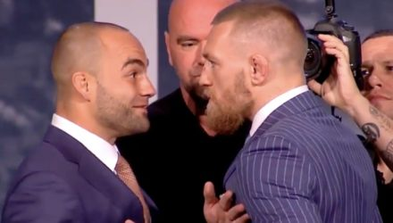 Eddie Alvarez and Conor McGregor UFC 205 staredown