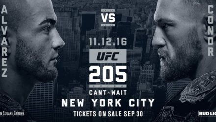 UFC 205 Eddie Alvarez vs Conor McGregor in New York Poster