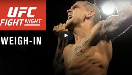 UFC Hidalgo Poirier vs Johnson Weigh-in Video