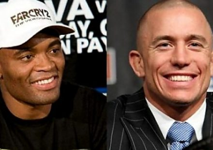 Anderson Silva vs Georges St-Pierre - smiling