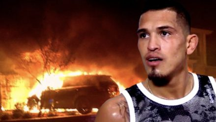 Anthony Pettis - Car Fire