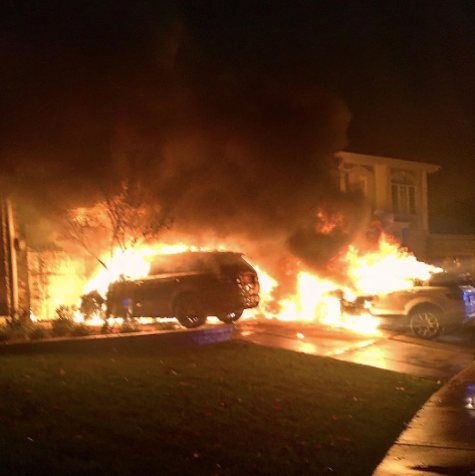 Anthony Pettis car fire