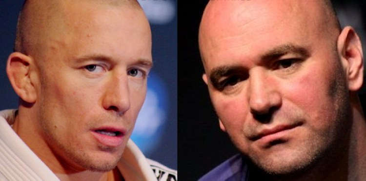Georges St-Pierre and Dana White