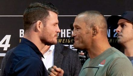 Michael Bisping vs Dan Henderson Media Day Faceoff